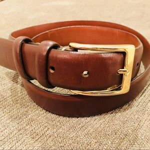 COLE HAAN BROWN LEATHER BELT MENS SIZE 36 NICE